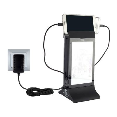 Cyclone - Cyclone Masaüstü Mobil Şarj Cihazı, Powerbank, LED Işıklı, Siyah (1)