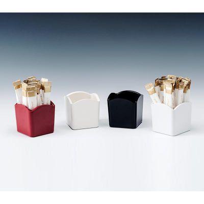 Zicco Poşet Şekerlik, Melamin, 6.5x6.5x6.5 cm, Beyaz