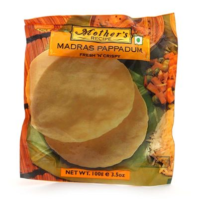 Mother'S Recipe Papadum Madras, 100 gr