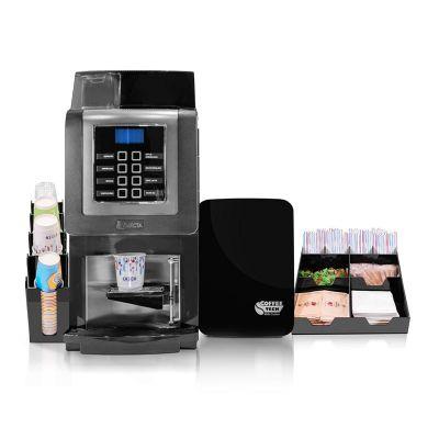 Necta - Necta Korinto Prime Espresso Fresh Milk Kahve Makinesi + Coffee Tech Süt Soğutucu + Peçete ve Karıştırıcı Standı + Bardaklık Standı (1)