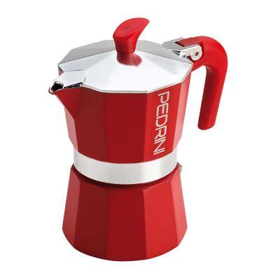 Pedrini Kaffet-Rosse Moka Pot, 3 Cups