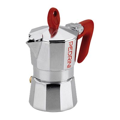 Pedrini Kaffet-Brillant Moka Pot, 12 Cups