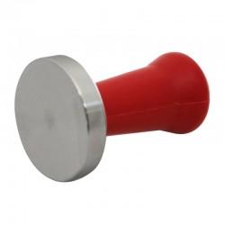 Cafemarkt Tamper, Plastik Saplı, 58 mm, Kırmızı - Thumbnail