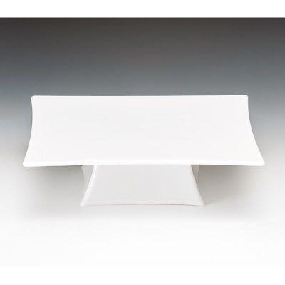 Zicco Teşhir Standı, Ayaklı, Tek Katlı, Polikarbon, 20x20x7 cm, Beyaz