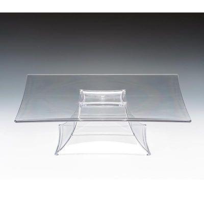 Zicco Teşhir Standı, Ayaklı, Tek Katlı, Polikarbon, 35x35x10.5 cm, Şeffaf