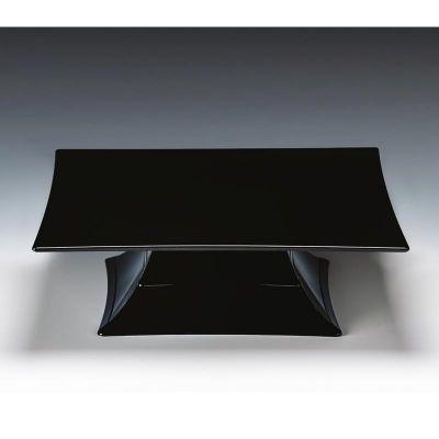 Zicco Teşhir Standı, Ayaklı, Tek Katlı, Polikarbon, 30x30x10.5 cm, Siyah