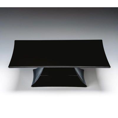 Zicco Teşhir Standı, Ayaklı, Tek Katlı, Polikarbon, 35x35x10.5 cm, Siyah