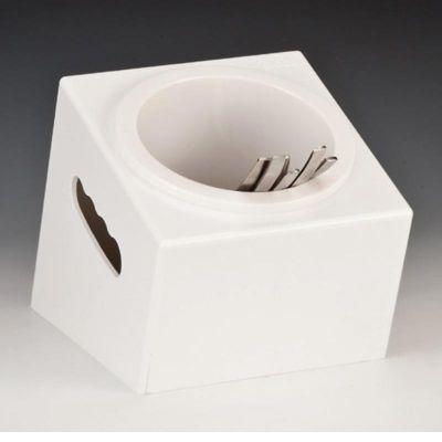 Zicco Çatal Kaşık Standı, Tekli, Polikarbon, 16.5x18x h:15 cm, Beyaz