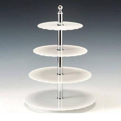 Zicco Teşhir Standı, Polikarbon, Ø 19-23-27-31x h:42 cm, Beyaz