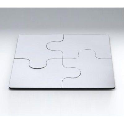 Zicco Puzzle Ayna Teşhir Standı, Kare, 50 cm