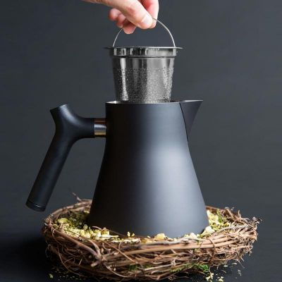 FellowProducts Raven Tea Kettle Çay Demleme ve Servis Cihazı, Isı Göstergeli