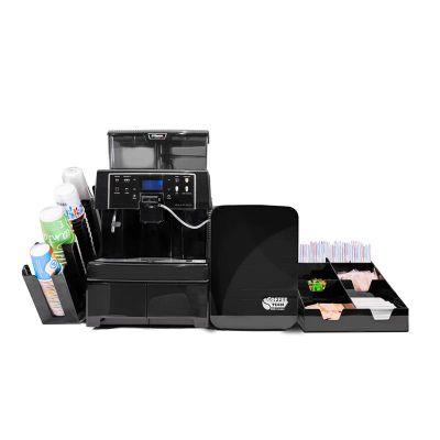 Saeco - Saeco Aulika Evo Top HSC Kahve Makinesi + Coffee Tech Süt Soğutucu + Peçete ve Karıştırıcı Standı + Bardaklık Standı (1)