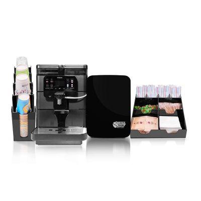 Saeco - Saeco Royal Evo OTC Kahve Makinesi + Coffee Tech Süt Soğutucu + Peçete ve Karıştırıcı Standı + Bardaklık Standı (1)
