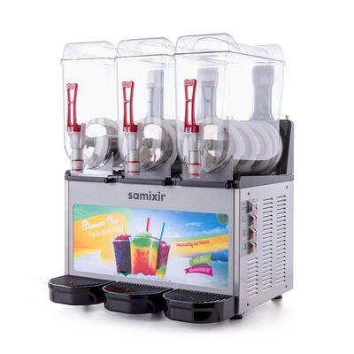 Samixir - Samixir Allure Triple Ice Slush Granita ve Soğuk Meyve Suyu Dispenseri, 12+12 L, Inox (1)