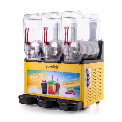 Samixir - Samixir Allure Triple Ice Slush Granita ve Soğuk Meyve Suyu Dispenseri, 12+12 L, Sarı (1)