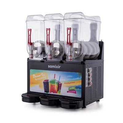Samixir - Samixir Allure Triple Ice Slush Granita ve Soğuk Meyve Suyu Dispenseri, 12+12 L, Siyah (1)
