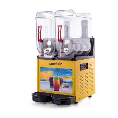 Samixir - Samixir Allure Twin Ice Slush Granita Meyve Suyu Dispenseri, 12+12 L, Sarı (1)