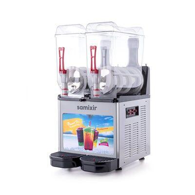 Samixir - Samixir Allure Twin Ice Slush Granita ve Soğuk Meyve Suyu Dispenseri, 12+12 L, Inox (1)