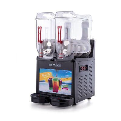 Samixir - Samixir Allure Twin Ice Slush Granita ve Soğuk Meyve Suyu Dispenseri, 12+12 L, Siyah (1)