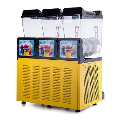 Samixir Ice Slush Triple Meyve Suyu Dispenseri, 12+12+12 L, Sarı