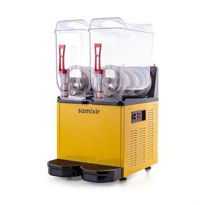 Samixir - Samixir Ice Slush Twin Meyve Suyu Dispenseri, 12+12 L, Sarı (1)