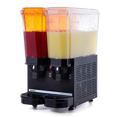 Samixir - Samixir Klasik Twin Soğuk İçecek Dispenseri, 20+20 L, Fıskiyeli, Siyah (1)