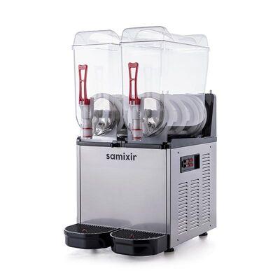 Samixir - Samixir Twin Ice Slush Granita ve Soğuk Meyve Suyu Dispenseri, 12+12 L, Inox (1)