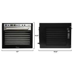 Sedona Supreme SDC-S101-F Meyve ve Sebze Kurutma Makinesi, Paslanmaz Çelik Tepsili, 9 Tepsi Kapasiteli - Thumbnail