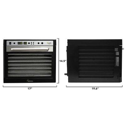 Sedona Supreme SDC-S101-F Meyve ve Sebze Kurutma Makinesi, Paslanmaz Çelik Tepsili, 9 Tepsi Kapasiteli