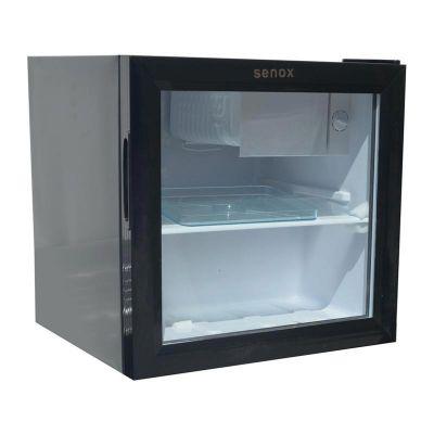 Senox TEK Mini Soğutucu Dolap, Taşınabilir, Cam Kapılı, 48 L, Siyah