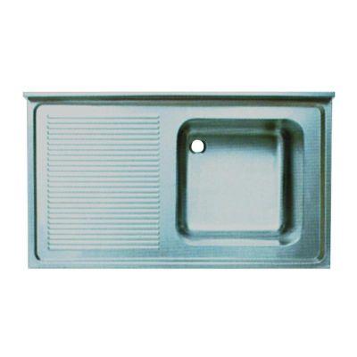 Öztiryakiler Evye, Tablalı, 100x70 cm, Tek Gözlü, Sol Damlalıklı, 50x50x30 cm
