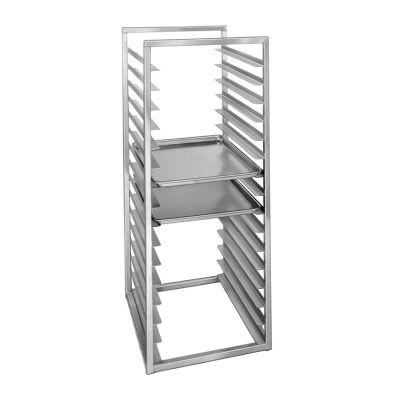Al Metal Tepsi Taşıma İstif ve Pişirme Arabası, 15 Tepsi Kapasiteli, 40x60 cm
