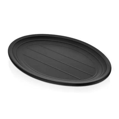 Külsan Thermoset Tabak, Oval, 27.4x19.7 cm, Siyah