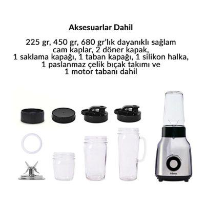 Tribest PBG-5050-C Personal Blender, Cam Sürahili, 500 W