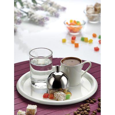 Biradlı - Biradlı Türk Kahve Servis Takımı, Yuvarlak, 19 cm (1)