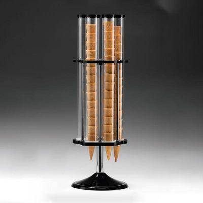 Zicco Döner Dondurma Külah Standı, 6'lı, Polikarbonat, Akrilik Standlı, 24x78 cm