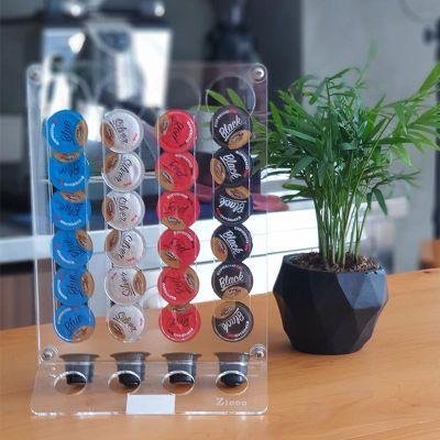 Zicco - Zicco Kapsül Kahve Standı, 56 Kapsül Kapasiteli, Akrilik, 20x28 cm (1)